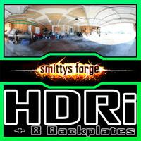 HDRI Pack - Garage Open + 8 Backplates
