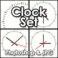 Clock Face and Hands - Photoshop File