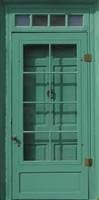 Antique Green Door