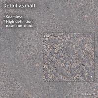 Detail asphalt