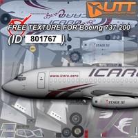 Boeing 737-200 Icaro free texture