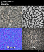Granite Rubble Seamless Texture 01