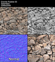 Granite Rubble Seamless Texture 03
