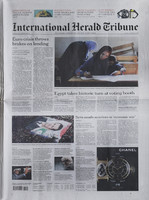 International Herald Tribune front page texture