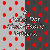 2 Polka Dot Fabric Patterns