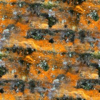 Orange Sandstone with Moss - 2048 x 2048