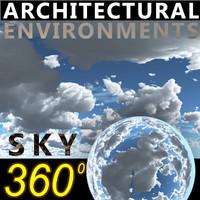 Sky 360 Clouded 004