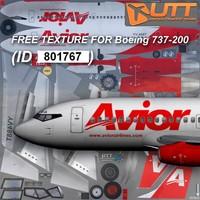 Boeing 737-200 Avior free texture