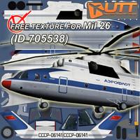 Mil_26 free texture Aeroflot