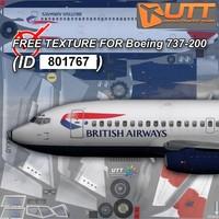 Boeing 737-200 free texture British