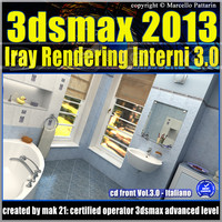 3ds max 2013 Iray Rendering interni Italiano cd front Vol 3