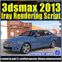 3ds max 2013 Iray Rendering Script Italiano cd front Vol 4