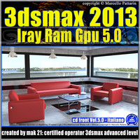 3ds max 2013 Iray Ram Gpu Italiano cd front Vol 5