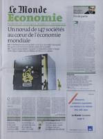 Le Monde Economie fronte page texture