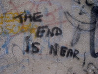 The end is near graffiti