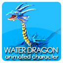 Animated Water Dragon PNG sequenses