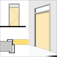 Door Swing Single Transom Metal 01498se