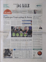 Il Sole 24 Ore front page texture
