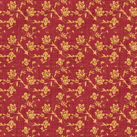 Coordinated Cottons - Apricot on Red Floral