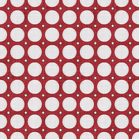 Coordinated Cottons - White on Red Modern Dots