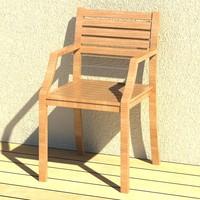 3d chair relais model