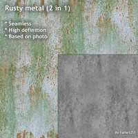Rusty metal (2 in 1)