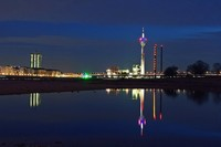 Duesseldorf at night
