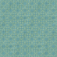 Coordinated Cottons - Blue on Green Damask