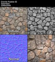 Granite Rubble Seamless Texture 02