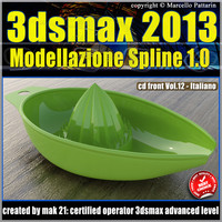 3ds max 2013 Modellazione Spline v.12 Italiano cd front