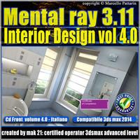 Mental ray 3.11 3dsmax 2014 Vol.4 Interior Design cd front