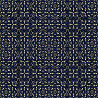 Coordinated Cottons - Yellow on Navy Damask