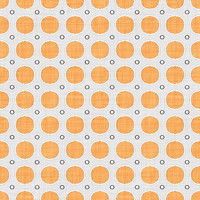 Coordinated Cottons - Apricot on White Modern Dots
