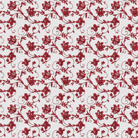 Coordinated Cottons - Red on White Floral