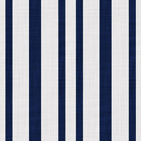 Coordinated Cottons -Navy on White Stripes