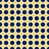 Coordinated Cottons - Navy on Yellow Modern Dots