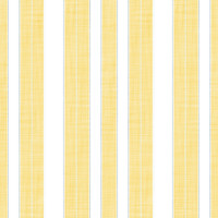 Coordinated Cottons - White on Yellow Stripes
