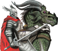 Fantasy Knight and Dragon