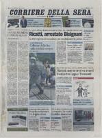 Corriere della Sera front page texture
