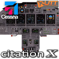Cessna citation X panel