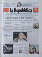 La Repubblica front page texture