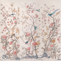 Chinese silk wallpaper