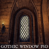 Gothic Window PSD with Layers