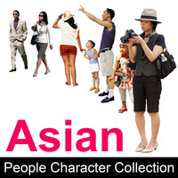 Asian People Character Collection