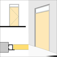 Door Swing Single Transom Metal 01489se
