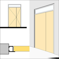Door Swing Double Transom Metal 01491se