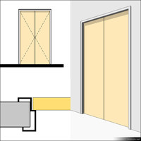 Door Swing Double Metal 01499se