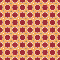 Coordinated Cottons - Red on Apricot Modern Dots