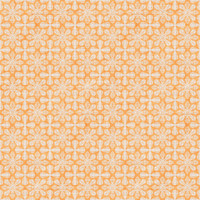 Coordinated Cottons - White on Apricot  Damask