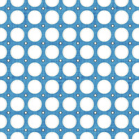 Coordinated Cottons - White on Blue Modern Dots
